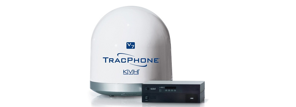 2 miniVSAT KVH TracPhone V7 antenna & control units For Sale
